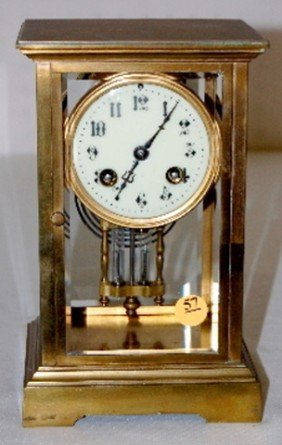 S. Marti French T & S Crystal Regulator Clock