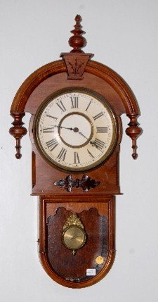 Gilbert Carved Tear Drop Wall Regulator Clock