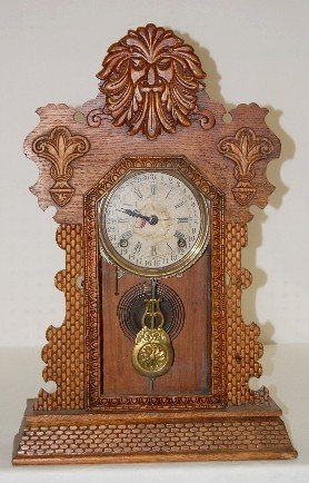 "Ingraham Topaz Variant ""Northwood"" Kitchen Clock"
