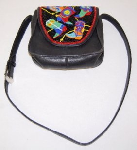 Brighton Handbag, Beaded Leather