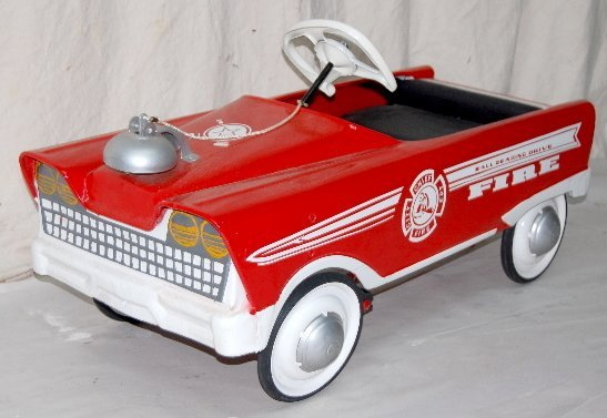 Murray Pedal Tractor Restoration : F restored murray fire chief pedal car lot