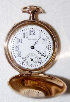 Waltham 15J, 3/OS, SW, HC Pocket Watch