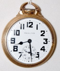 Hamilton 992B, 21J, 16S, LS, OF Pocket Watch