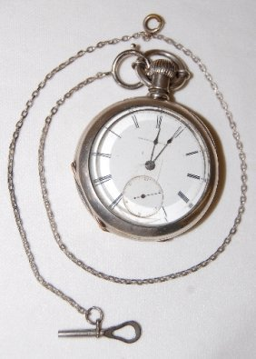 National Watch Co. 18S, H.H. Taylor Pocket Watch