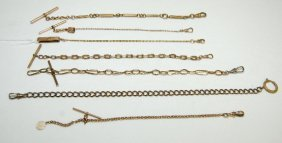 7 Watch Chains, Assorted Styles And Lengths