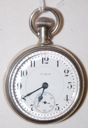 Elgin 21J, 18S, Father Time, LS, OF Pocket Watch