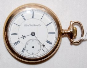 Elgin 15J, BW Raymond, 18S, LS, OF Pocket Watch