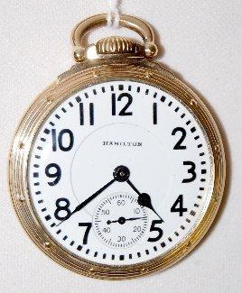Hamilton 992B, 21J, 16S, GF, OF Pocket Watch
