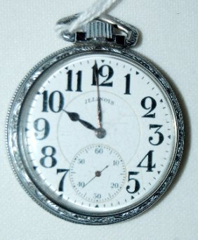 Illinois 21J 16S Sangamo OF, DMK Pocket Watch