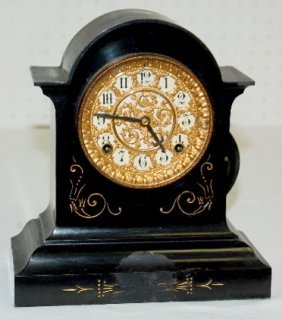 Ansonia Fancy Iron Antique Clock