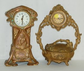 Jewelry Box And Lady Dresser Clocks