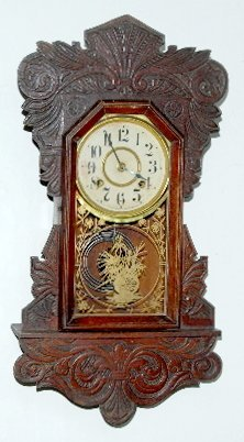 New Haven Carved Hanging Kitchen Clock