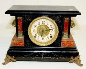 Fancy Ingraham Antique Mantel Clock