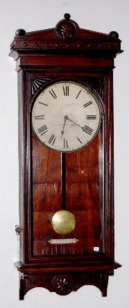 Self Winding Clock Co. Wall Regulator Clock