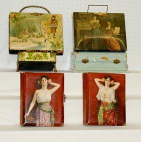 4 Antique Celluloid Cover Photograph Albums