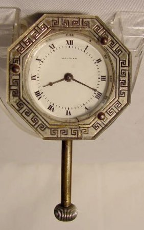 1915 8 Day Waltham Car Clock , Made In USA NR