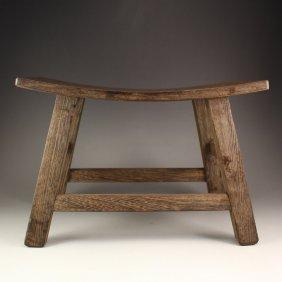 Chinese Jichi Wood Stool