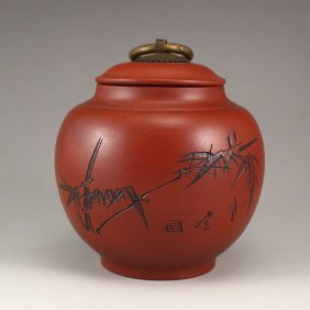 Chinese Yixing Zisha / Purple Clay Tea Caddy