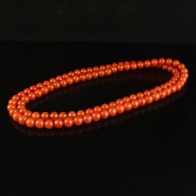 5 Mm Chinese Natural Nan Hong Agate Beads Necklace