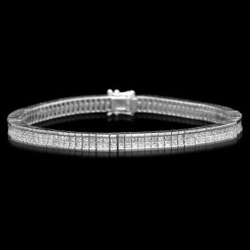 14k Gold 6.70ct Diamond Bracelet