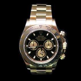 Rolex Daytona 40mm 18k Rose Gold Mens Wristwatch