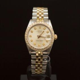Rolex Two-tone Datejust 31mm Diamond Dial Diamond Bezel