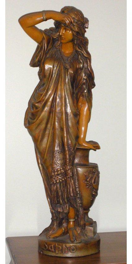 Beautiful Antique C1890 33 Quot Sapho Sappho Plaster Statue