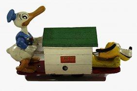 Donal Duck Hand Car