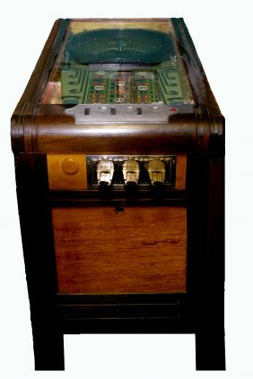 1936 Evans Roll-ette Gambling Machine