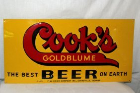 Cook's Gold Blume Beer Sign