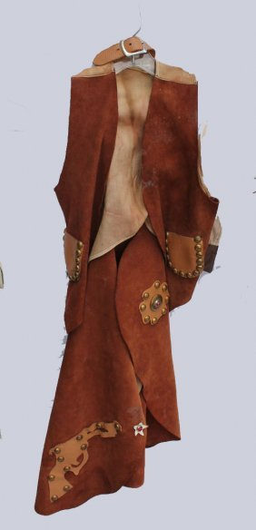 Cowboy Leather Chaps And Vest
