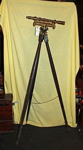 Surveyor's Tripod & Instrument