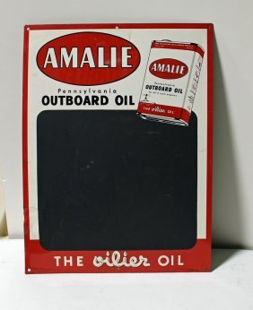Amalie Outboard Motor Oil Sign