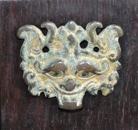 A Fine Han Dynasty Bronze Gilded Door Knob