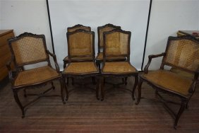 Set Of 6 Louis Xv French Provincial Style Dining Room