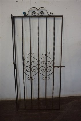 Wrought Iron Hinged Garden Gate