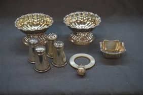Eight (8) Pieces Of Sterling Silver Table Wares
