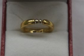18k Gold Lady's Modernist Design Solid Gold Band / Ring