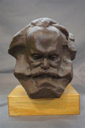 Karl Marx Meissen Porcelain Bust