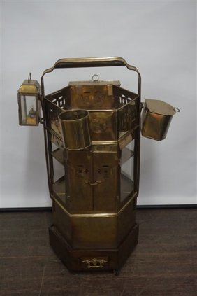 Brass Chinese Thai Noodle Cart