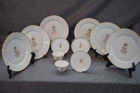 12 Pieces Sevres Porcelain China Napoleon