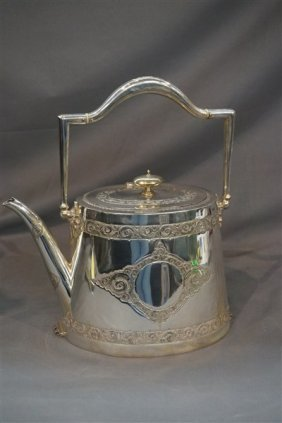 Martin Hall & Co. Victorian Silver Plated Teapot