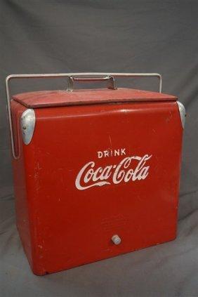Vintage Coca Cola Cooler, Akton Mfg. Co.