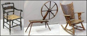 PRIMITIVE SPINNING WHEEL.