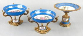 PAIR OF LIMOGES PORCELAIN COMPOTES.