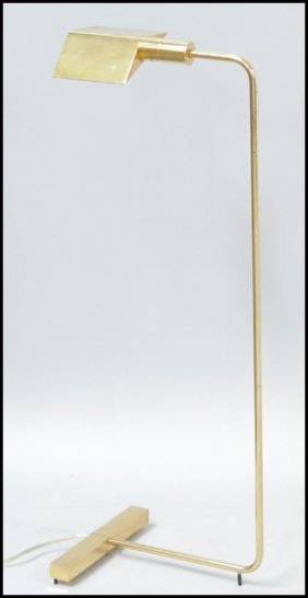 CEDRIC HARTMAN BRASS FLOOR LAMP.