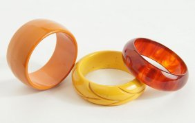 An Amber Bakelite Juice Bangle Bracelet.