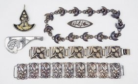 A John Lauritzen Sterling Silver Grape Cluster