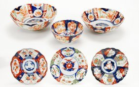 A Group Of Early 20th Century Japanese Kutani And Imari