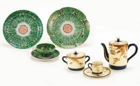 A 20th Century Japanese Satsuma Porcelain Tea Set.